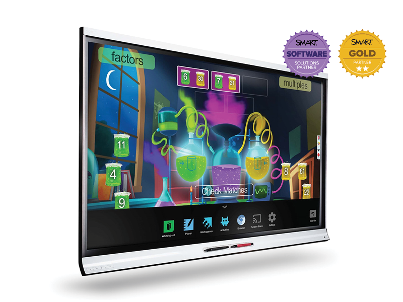 SMART Board 6265 Interactive Touchscreen – Opened